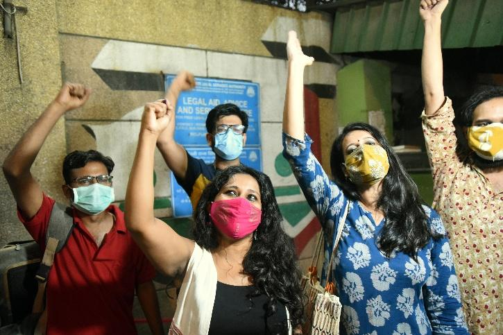 Natasha Narwal, Devangana Kalita and Asif Iqbal Tanha