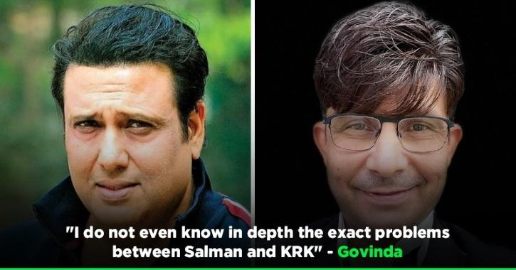 KRK Claims Govinda Supports Him In Feud Against Salman Khan, Actor Rubbishes His Claims