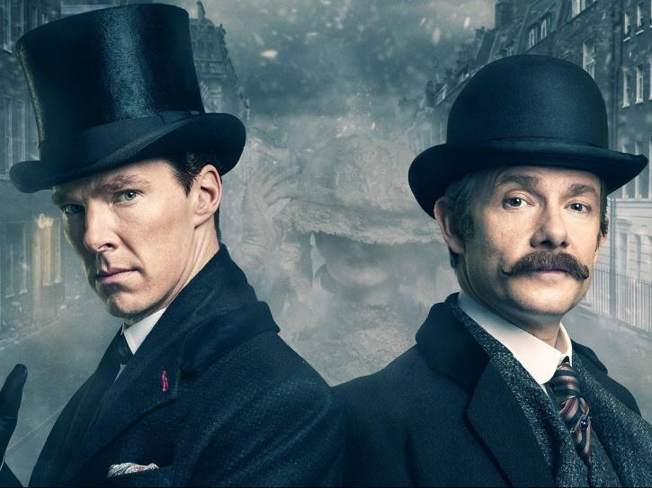 Sherlock Holmes and John Watson in Sherlock