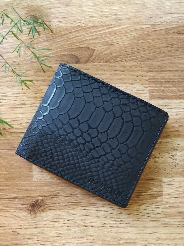 vegan leather bi fold wallet