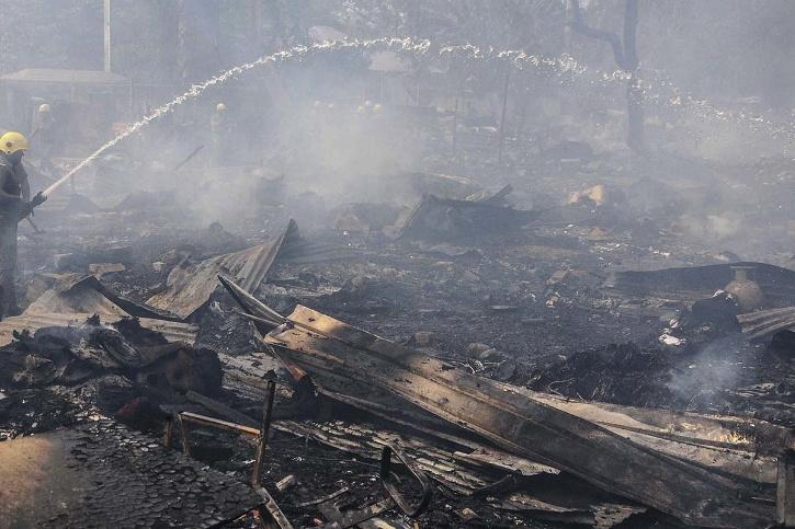 Over 50 Shanties Of Rohingya Refugees Gutted In Fire In Delhi, No Casualty