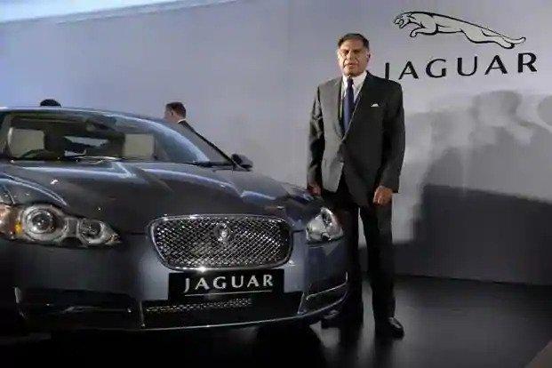 Ratan Tata with Jaguar car