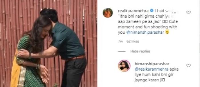 Karan Mehra's Comment On Co Star Himanshi Parashar's Instagram Post Goes Viral Amid Accusations Of Extramarital Affair