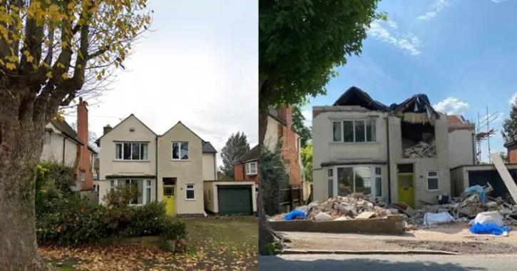 Builder demolishes home over unpaid bill