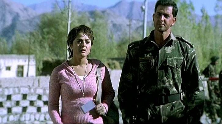Preity Zinta and Hrithik Roshan in Lakshay