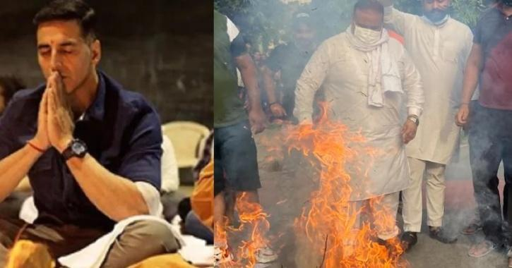 Akshay Kumar's Effigy Is Burnt In Chandigarh As They Protest Against His Upcoming Film Prithviraj