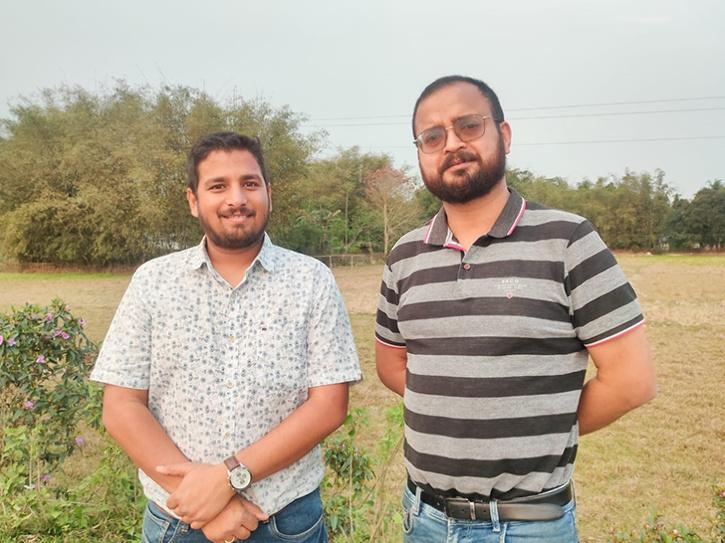 Left to Right - Upamanyu Borkakoty and Anshuman Bharali