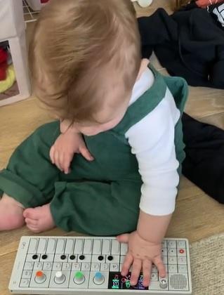 Elon Musk & Grimes' Son X Æ A-Xii plays the piano