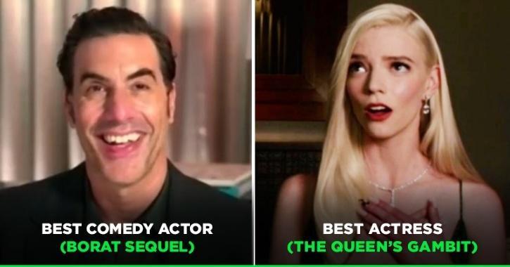Sacha Baron Cohen Wins Best Comedy Actor, Anya Taylor-Joy Wins Best Actress At Golden Globes