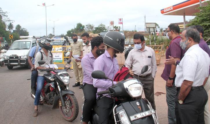 Goa covid traffic