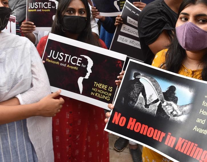 Honour killing protests