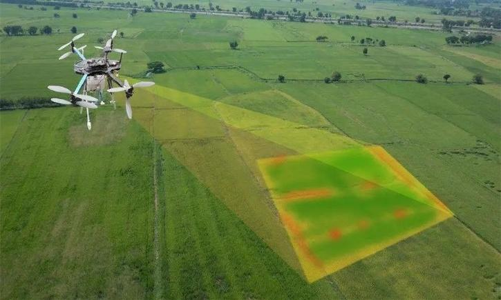 Drone mapping agriculture field