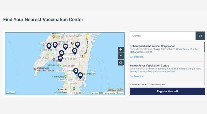 how to find covid-19 vaccine centre near you cowin
