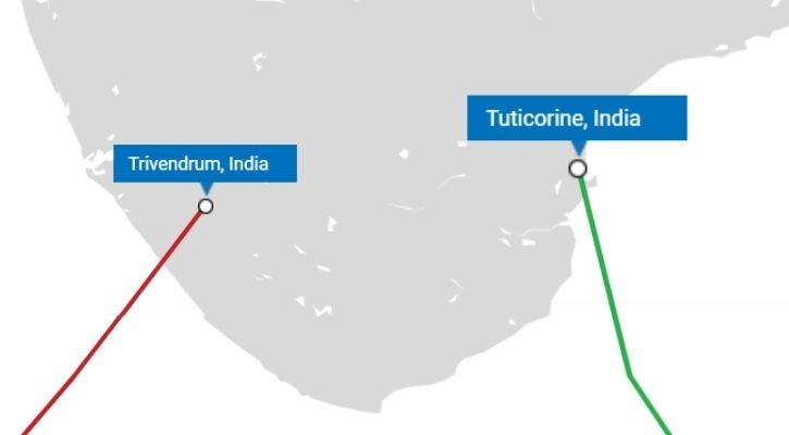 Trivandrum Tuticorin submarine cable landing station