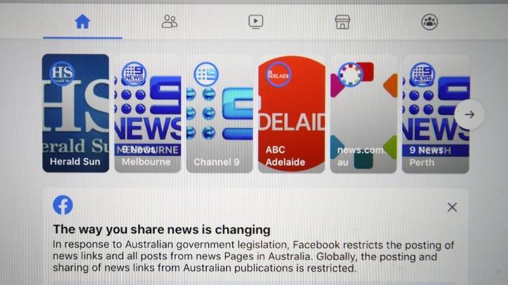 Facebook Australia news sharing law