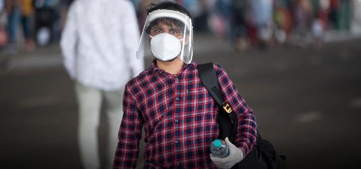 airport masked man