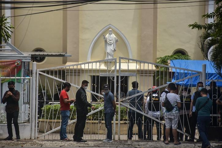 Suicide Attack At Indonesia Church