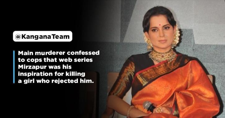 Kangana Ranaut Calls Farhan Akhtar For Making Mirzapur On Nikita Tomar Murder Case