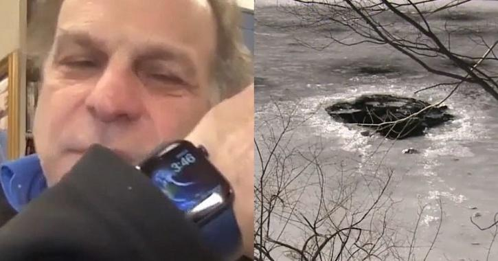 apple watch ice river