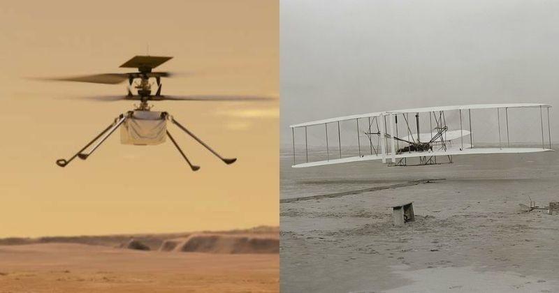 Ingenuity Helicopter Prepares To Fly On Mars, With A Piece Of Earth's 1st Airplane - India Times