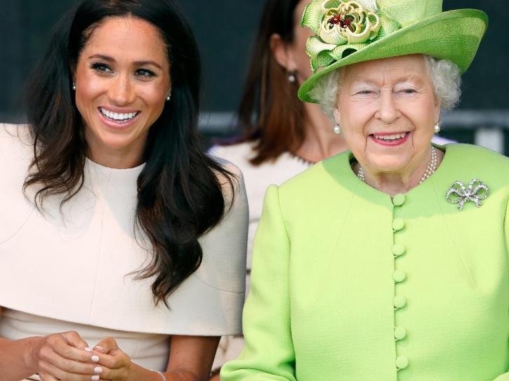 Queen Elizabeth II and Meghan Markle.