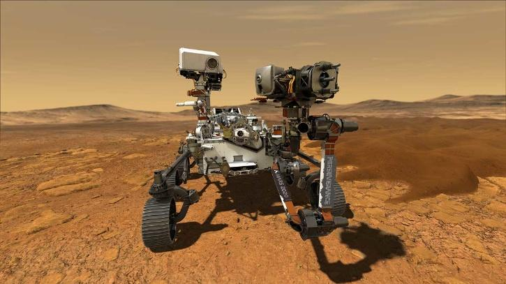 The Perseverance Rover was launched on July 30, 2020, and landed on Mars on February 18.