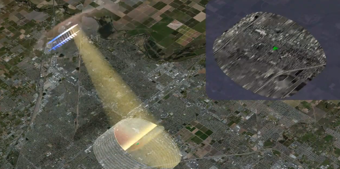 Animation of how NISAR will use Synthetic Aperture Radar to create high spatial resolution images of the Earth's surface.