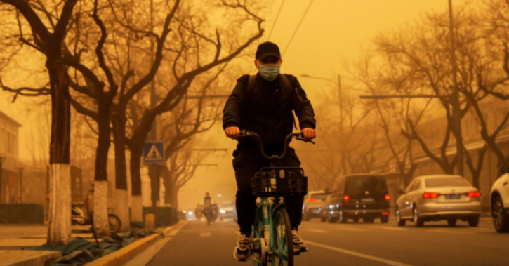 The China Meteorological Administration announced a yellow alert