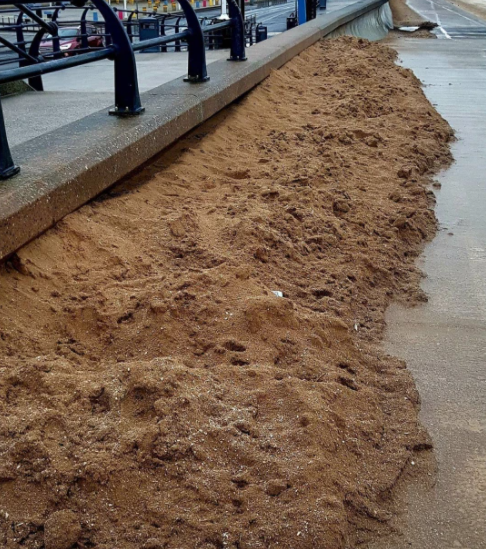 Chris couldn't believe it when he went down to the seafront and discovered the sand was back