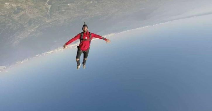 The 30-year-old was falling from the sky at Jurien Bay