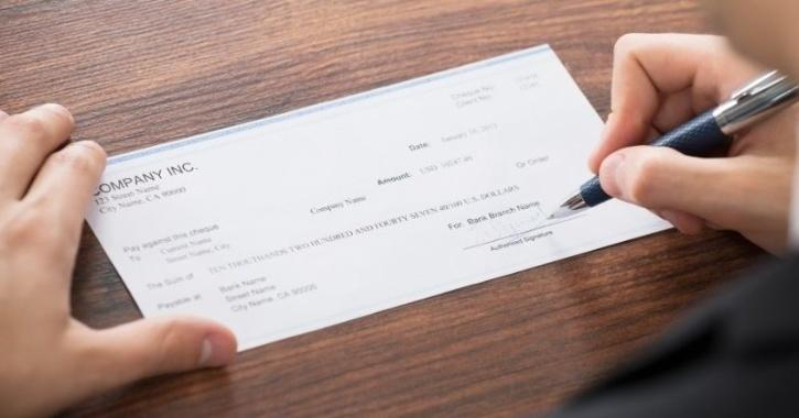 Cheque processing application