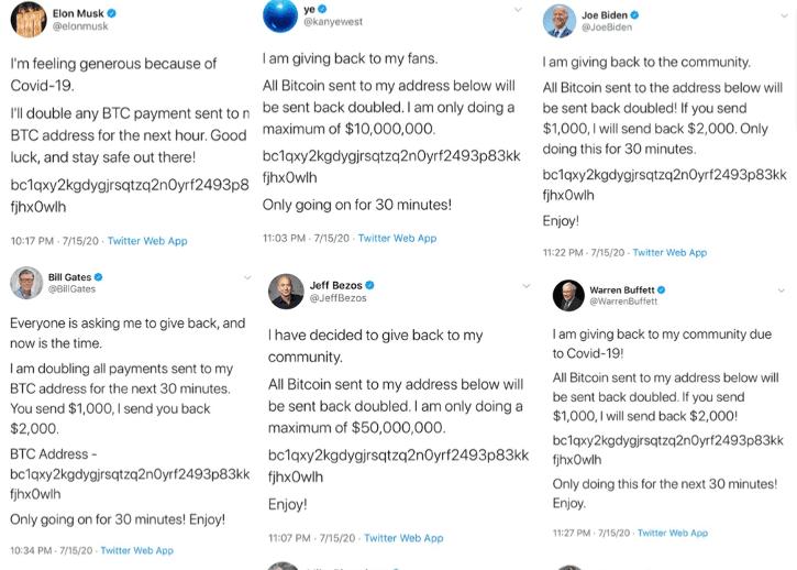 Twitter hack bitcoin scam