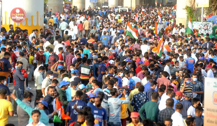 Record Crowd Post Covid In 1st Ind-Eng T20I