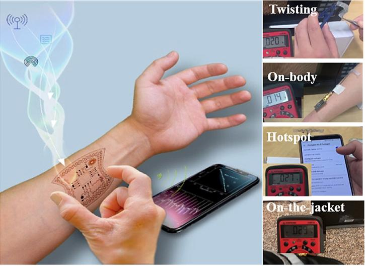 Researchers developed a way to harvest energy from radio waves to power wearable device