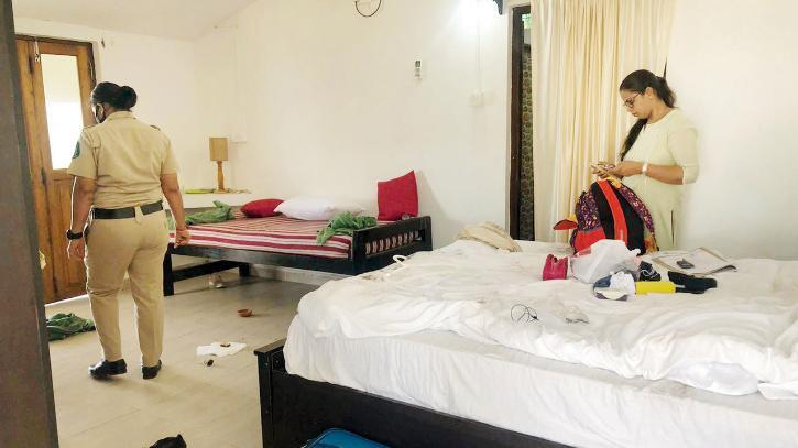 room where divya-dureja activist assault french woman goa