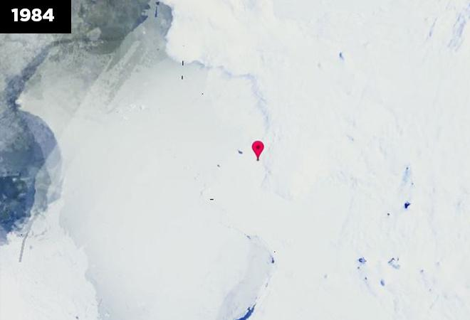 Melting Pine Ice Island: The continental ice sheet is shrinking in Antarctica