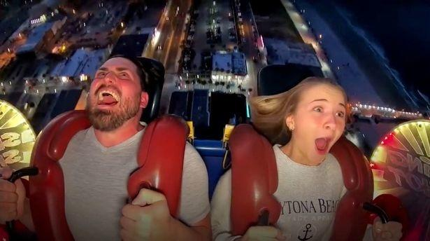 man loses fake tooth on sling ride
