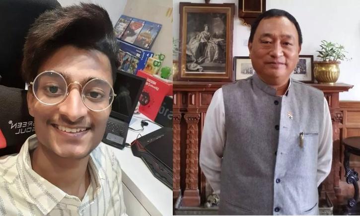 Youtuber Paras Official and Congress MLA Ninong Ering / Indiatimes