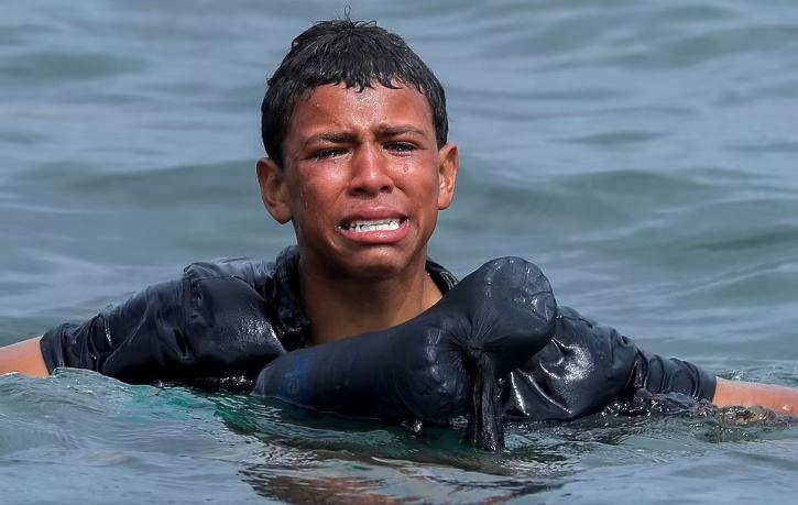 Moroccan migrant boy