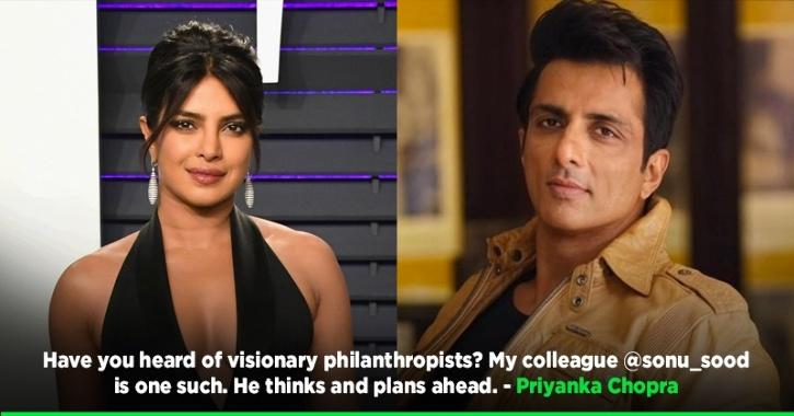 Priyanka Chopra Supports Sonu Sood's Appeal For Free Education To Kids Who Lost Parents Due To Covid 19