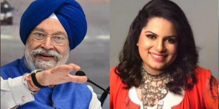 Hardeep Singh Puri and Mallika Dua / Indiatimes