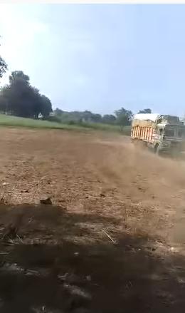 trucks goes to farm