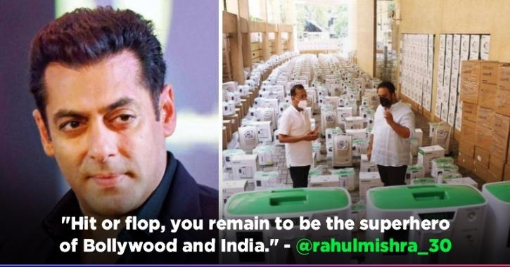 Salman Khan Procures 500 Oxygen Concentrators To Be Given For Free To Covid-19 Emergency Cases