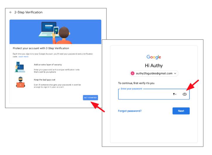 Setting up Google 2FA