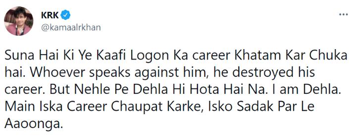 KRK vows to destroy Salman Khan