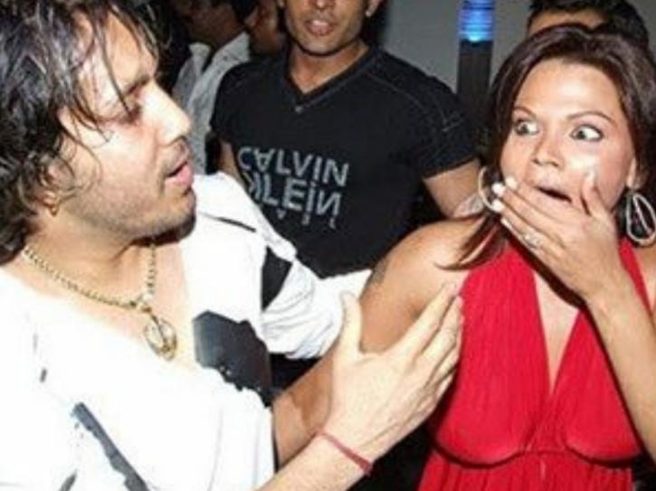 Rakhi Sawant and Mika Singh kiss controversy.
