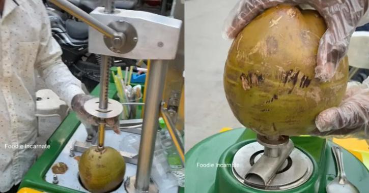 ndore Man's Hi-tech Coconut Water Cart
