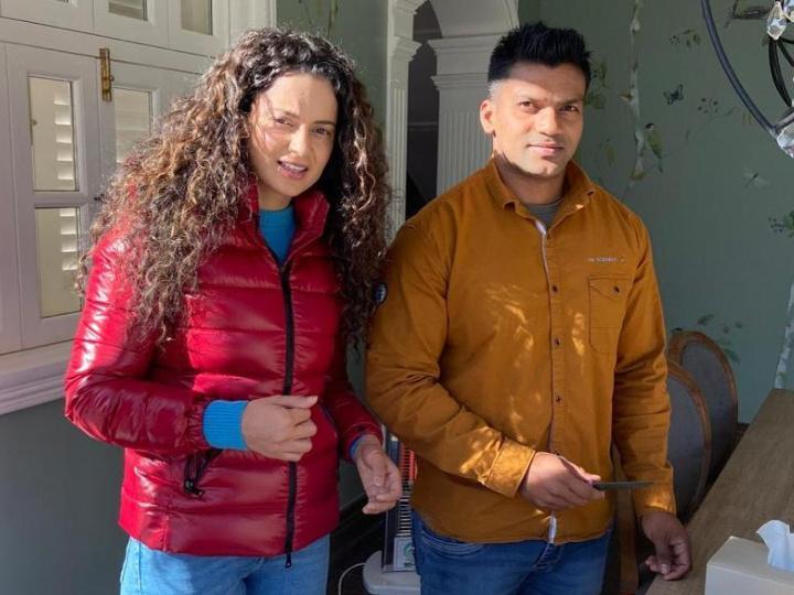 Kangana Ranaut with her bodyguard Kumar Hegde / Kangana Ranaut Instagram