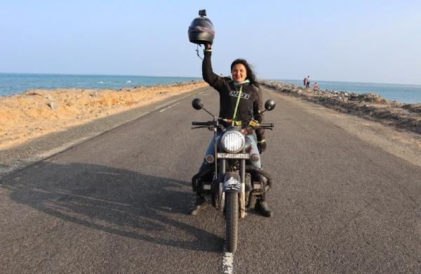 indrani Dahal said that her lone road trip has given her a sense of community.