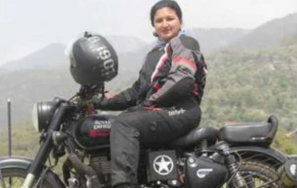 Dahal started riding at the age of 15 and this is her first ride outside her hometown.